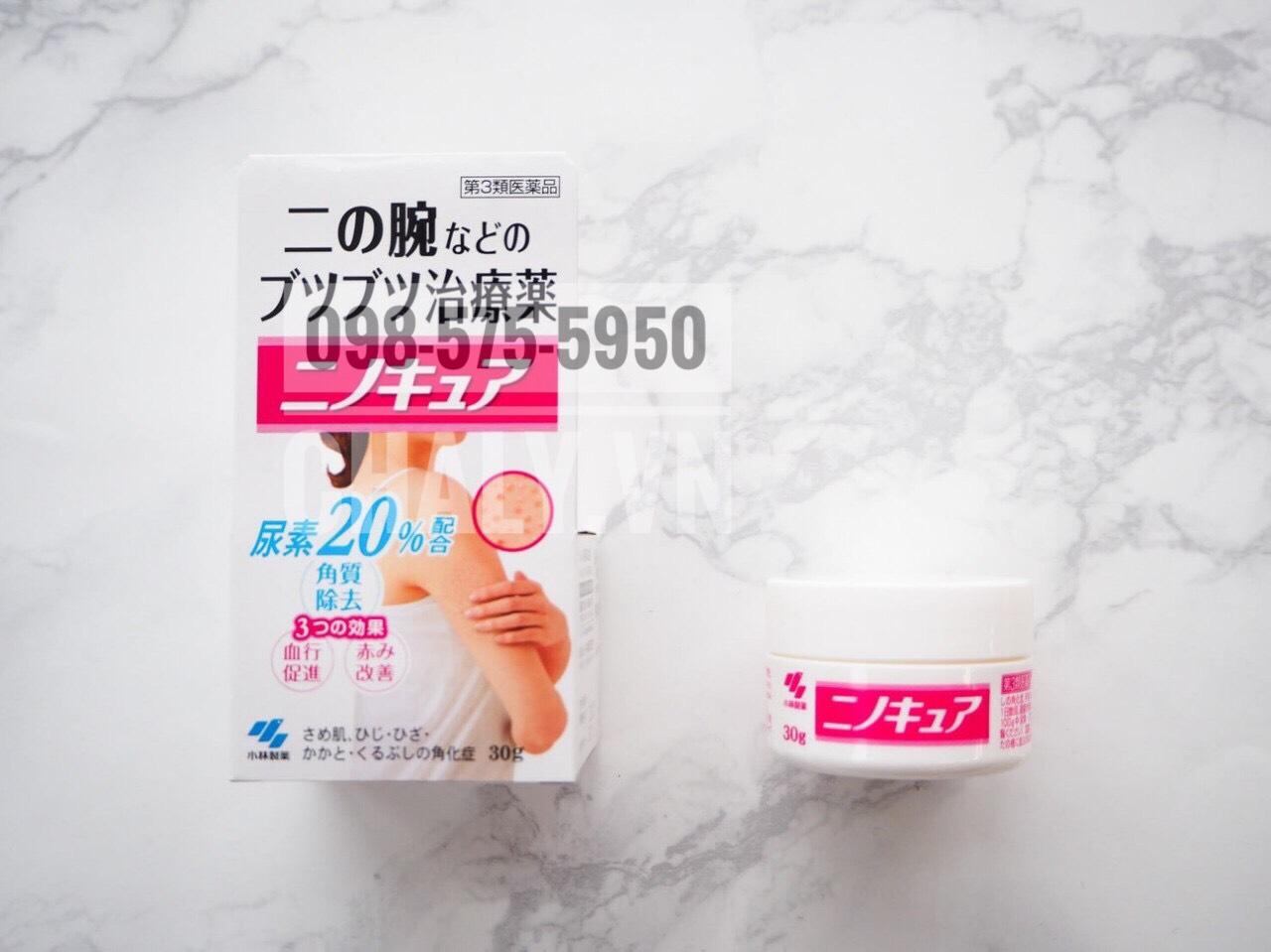 Kem trị viêm lỗ chân lông của Nhật Kobayashi Nino Cure 30g với công thức riêng của hãng dược Kobayashi đem lại hiệu quả trị viêm nang lông nhanh chóng, được tin cậy
