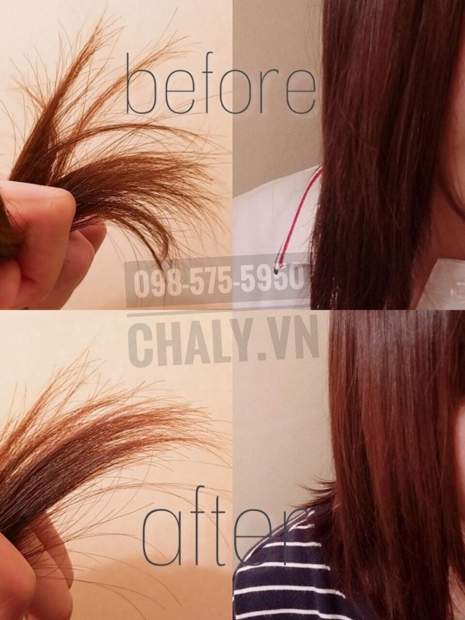 Sau khi sử dụng dầu ủ tóc collagen nhật bản tsubaki vàng thì tóc mình vào nếp, suôn mượt và không còn cong chỉa ra nữa
