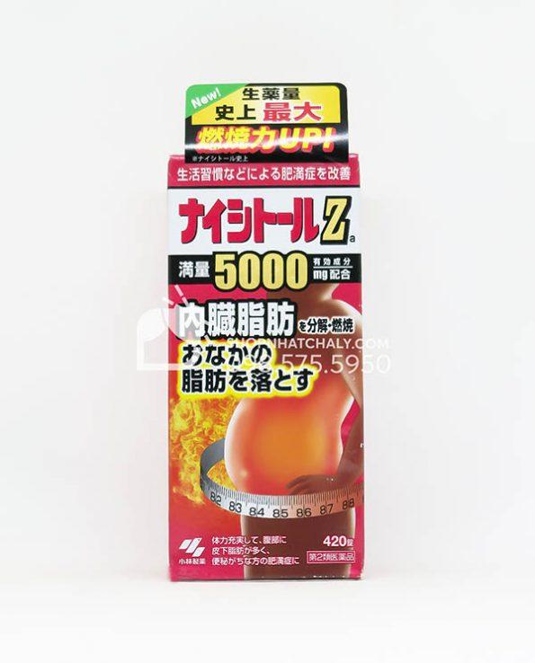 Thuoc giam mo bung Naishitoru Z 5000 Kobayashi Nhat Ban 420 vien mau moi 2021