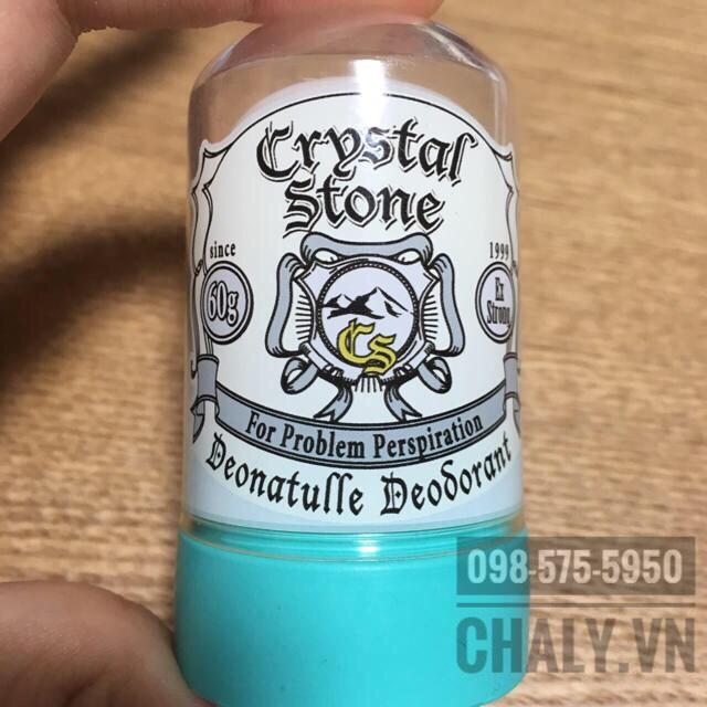 Thỏi thuốc trị mồ hôi nách của Nhật Bản dạng đá lăn Crystal Stone nhỏ gọn, tiện lợi mang theo bên mình