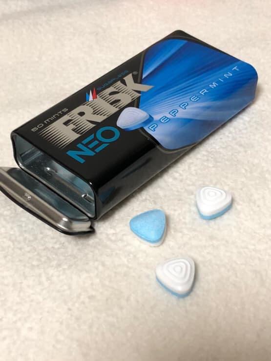 Mỗi hộp kẹo frisk neo peppermint có trọng lượng 35g gồm khoảng 50 viên kẹo phòng the frisk neo ở bên trong, sử dụng được 50 lần