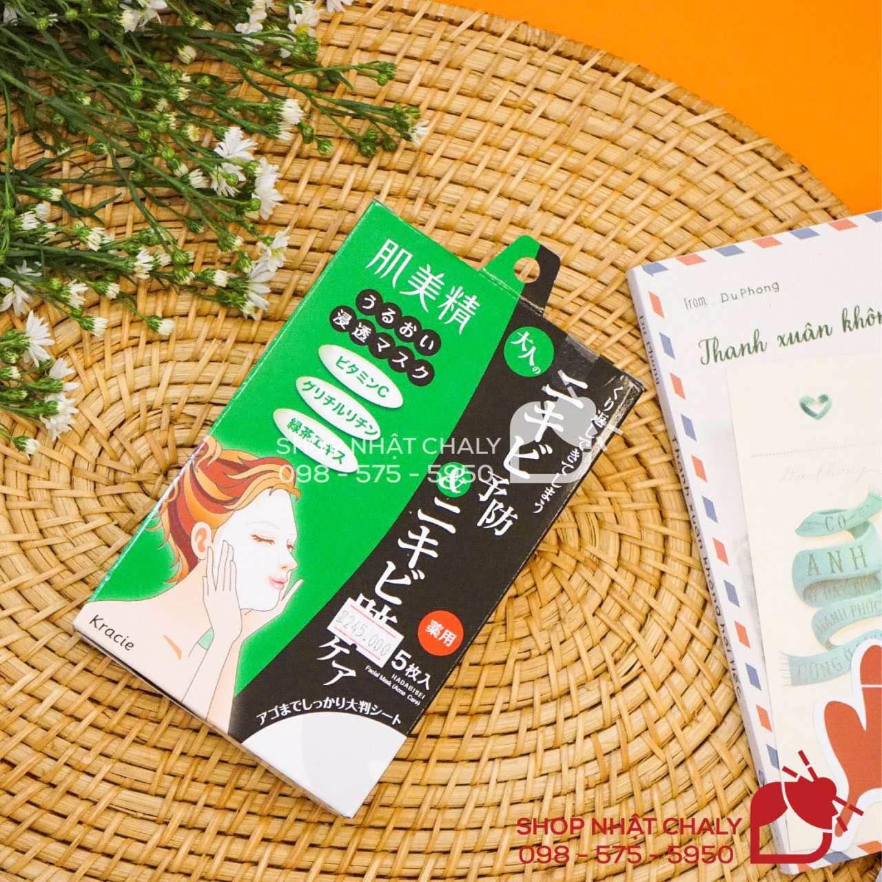 Mặt nạ thảo dược Kracie Hadabisei của Nhật là siêu phẩm mặt nạ số 1 cho da nhờn mụn, vừa trị mụn, điều tiết dầu lại dưỡng trắng da đồng thời