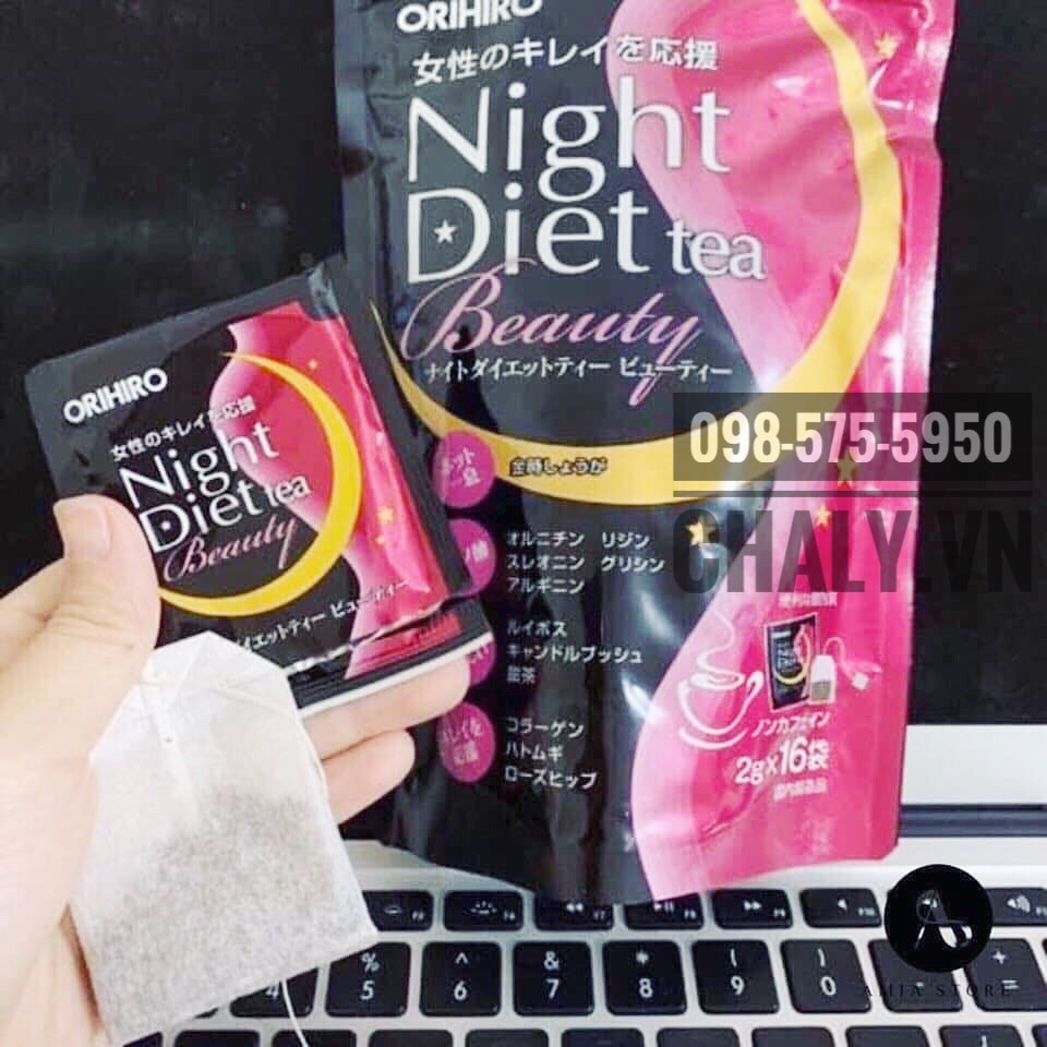 Trà giảm cân orihiro night diet tea review cực cao trên toàn châu Á chứ không riêng ở Nhật bởi khả năng hỗ trợ giảm cân rất tốt