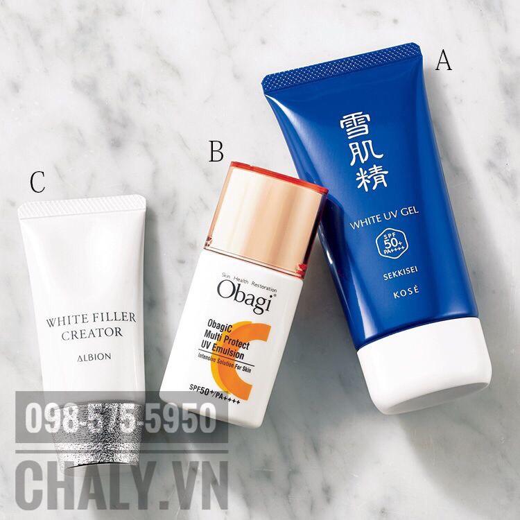 Kem chống nắng kose dạng gel review: da mình mướt và căng bóng, mịn màng cực kỳ thích