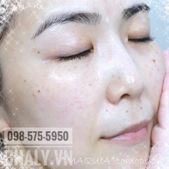 Kem dưỡng trắng da shiseido aqualabel xanh review: Rất mướt mịn da nhưng không hề bí, không lên mụn, không to lỗ chân lông