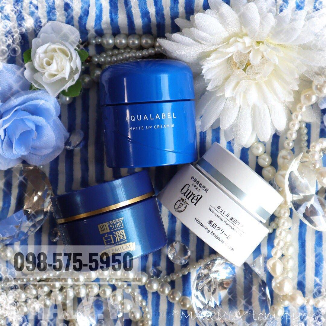 Có nhiều loại kem dưỡng trắng trị nám tốt trên thị trường, và kem dưỡng Shiseido Aqualabel white up cream màu xanh Nhật là một sản phẩm được yêu thích, đáng để thử