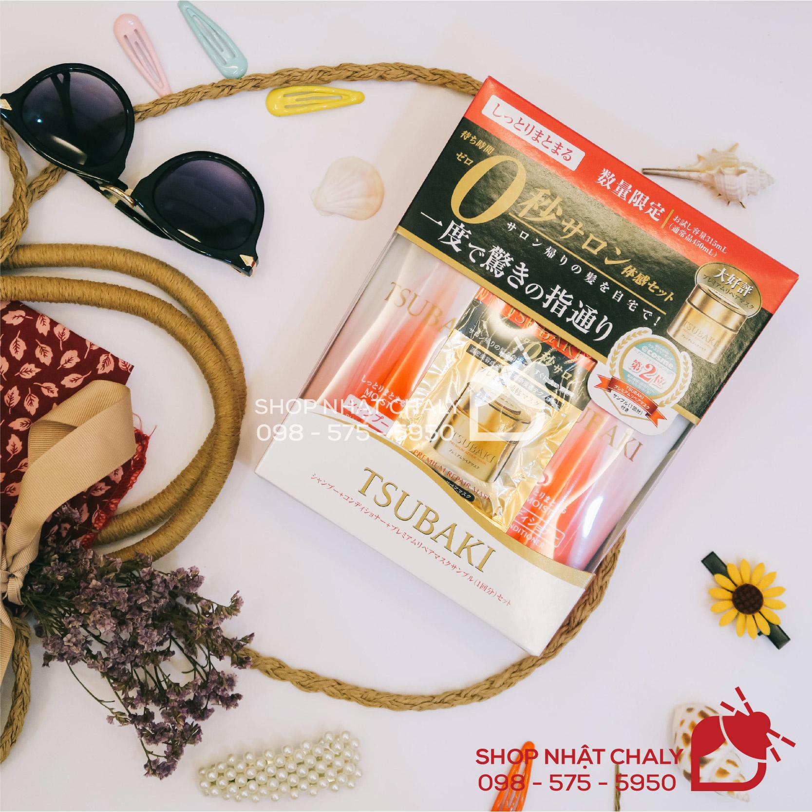 Bộ dầu gội Tsubaki đỏ của Shiseido là sản phẩm dưỡng tóc phục hồi, dành cho tóc khô xơ chẻ ngọn, rất được ưa chuộng