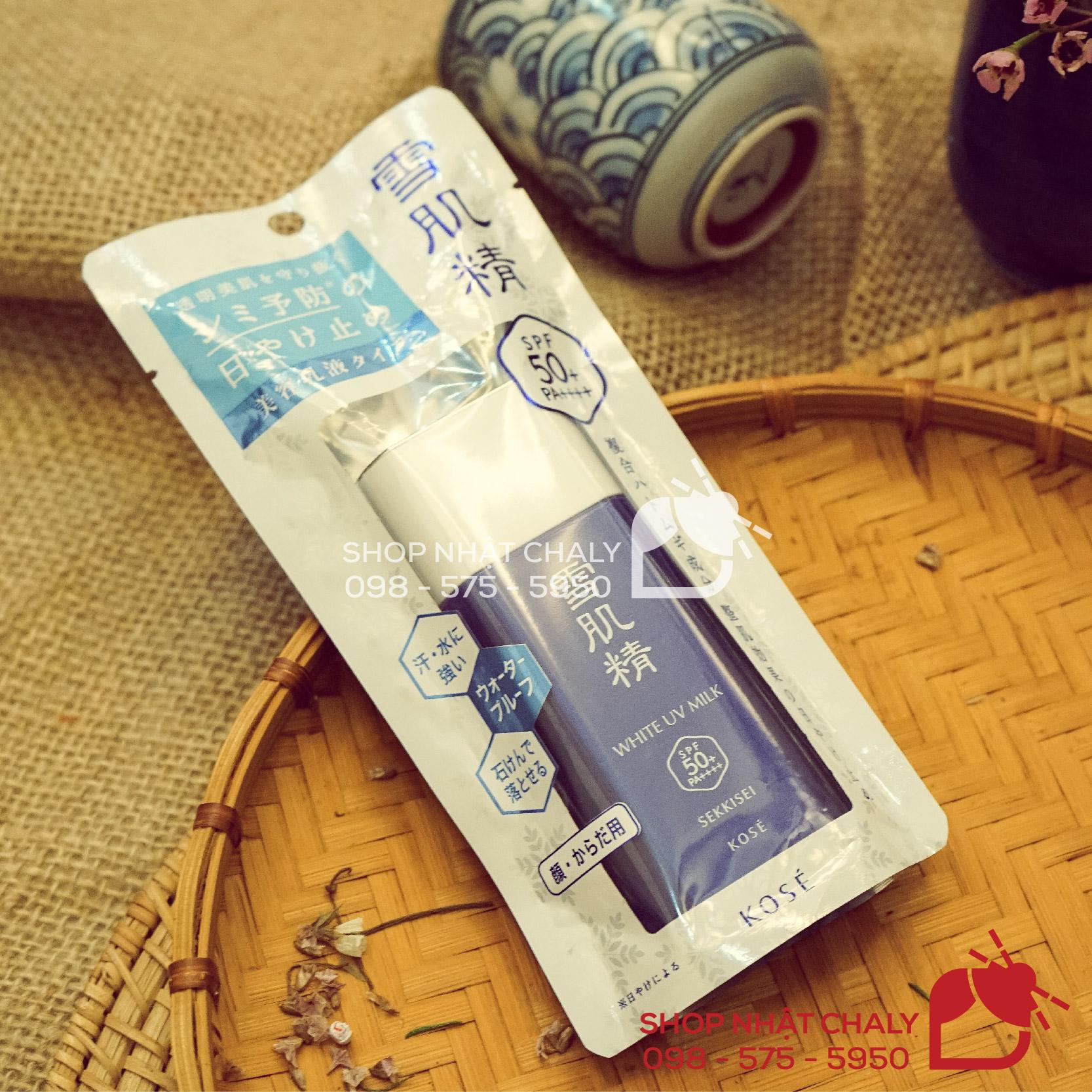 Kem chống nắng Kose xanh sun protect essence milk kose luôn lọt top kem chống nắng bán chạy nhất mỗi mùa hè tại Nhật