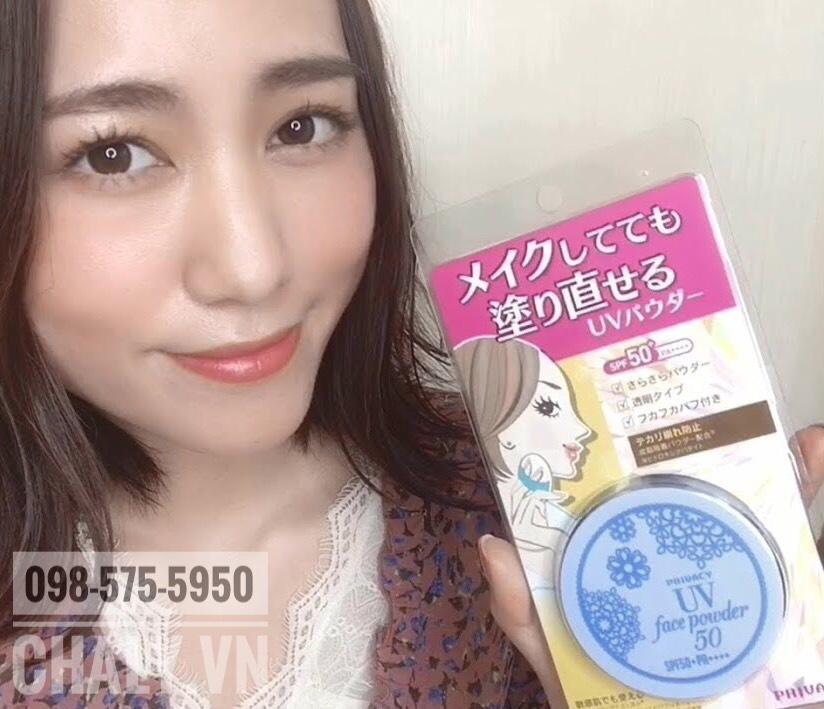 Phấn chống nắng nào tốt nhất Nhật hiện nay? Với quá nhiều ưu điểm trong 1 hũ phấn mà chỉ có cái giá mềm thế này thì quá xứng đáng để vote Privacy UV face powder là hũ phấn phủ chống nắng tuyệt vời nhất