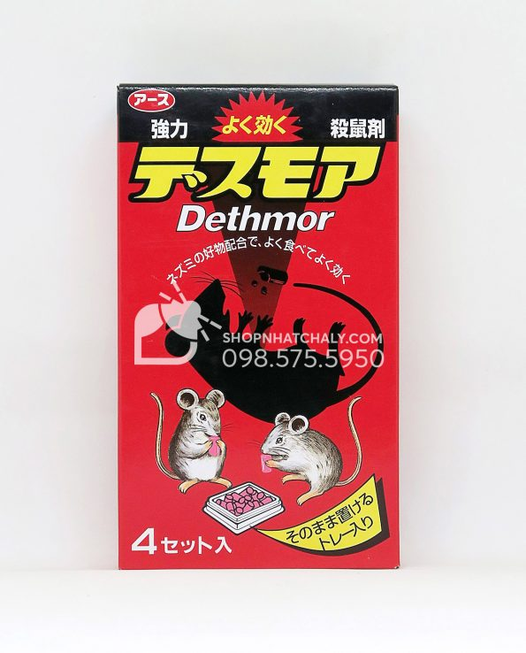 Thuốc diệt chuột Dethmor Nhật Bản hộp 4 vỉ