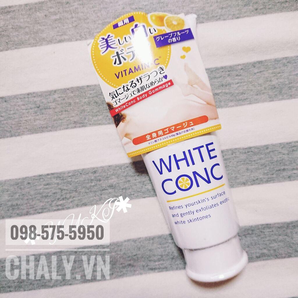 Mỗi tuần sử dụng khoảng 2 lần kem tẩy tế bào chết toàn thân White Conc vitamin C sẽ giúp da body luôn sạch mịn, sáng khoẻ, không mụn