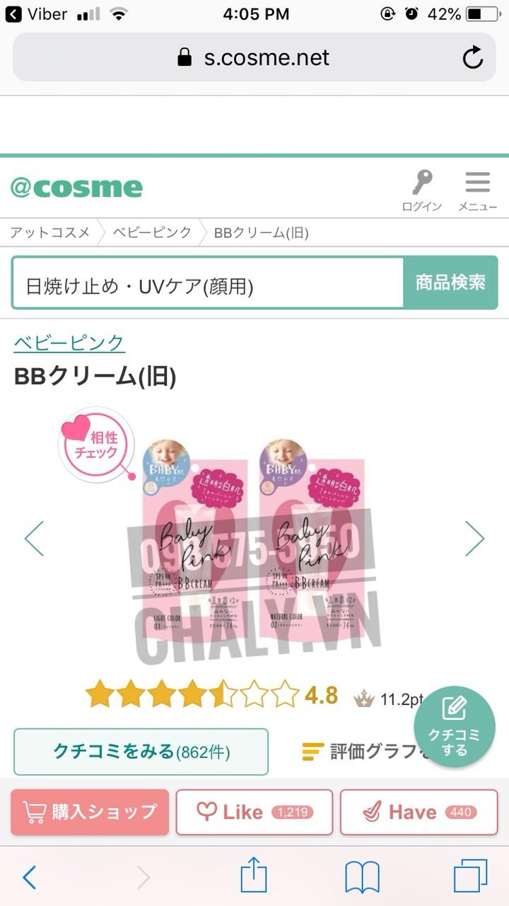 Review siêu đỉnh của kem nền em bé baby cc mineral cream Nhật