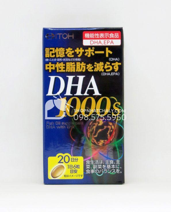 Thuốc bổ não DHA 1000mg EPA 14mg Itoh 120 viên Nhật