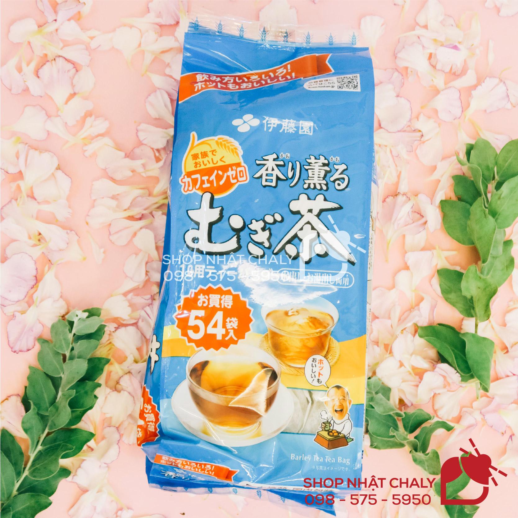 Trà lúa mạch của Nhật Bản Mugi tea ông già Nhật 54 gói có thành phần pha trộn 2 loại lúa mạch Nhật mang lại nhiều lợi ích cho sức khoẻ, rất được ưa chuộng