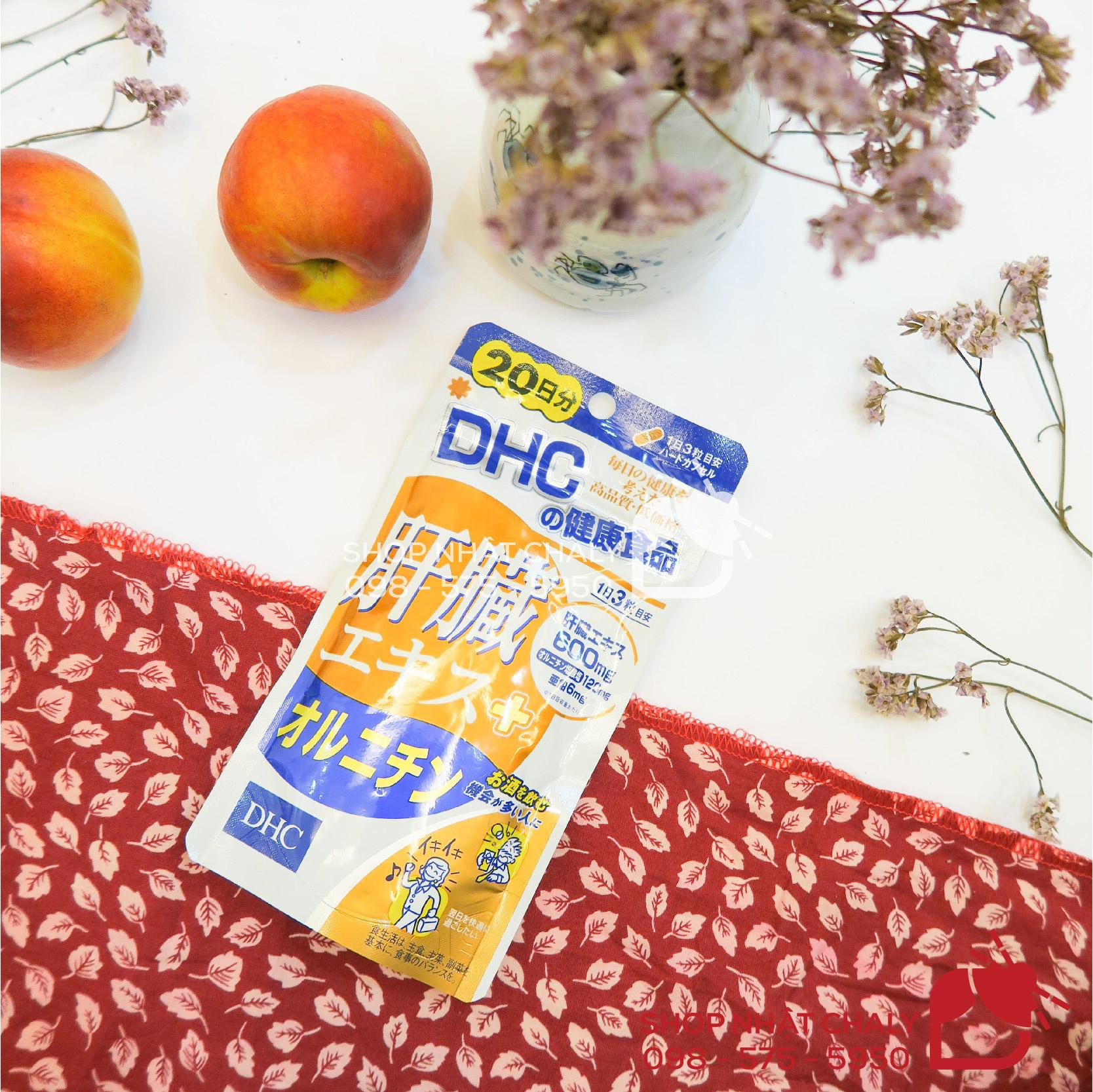 Viên thuốc mát gan Nhật Bản DHC không mùi vị, dễ uống, giá thành bình dân có thể dùng lâu dài