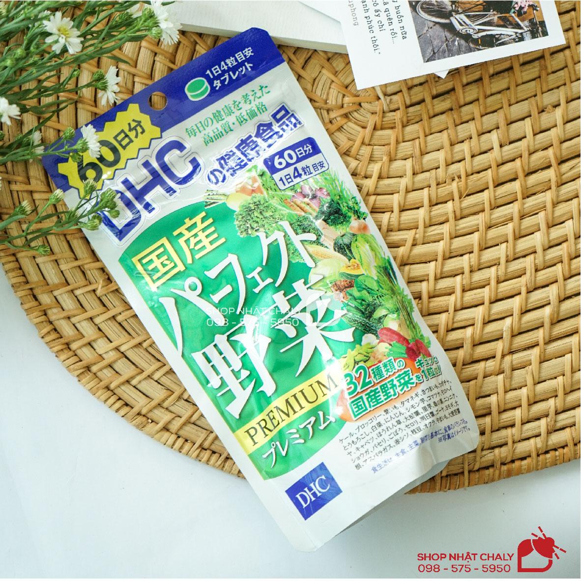Viên DHC rau củ 60 ngày 240 viên là viên uống rau củ nổi tiếng không chỉ tại Nhật mà ở nhiều nước châu Á. Sản phẩm lành tính, cải thiện nhiều vấn đề làn da và sức khoẻ