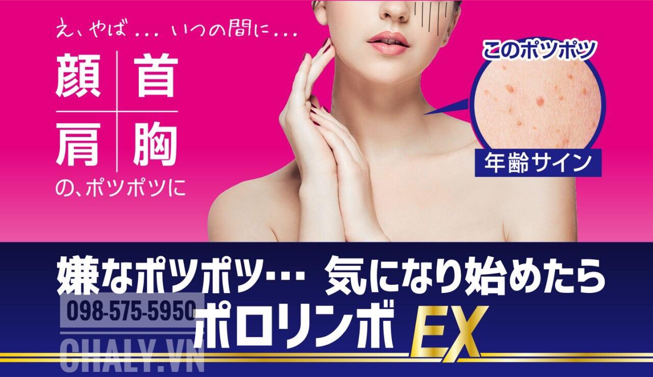Người dùng review kem trị mụn thịt của Nhật Pororinbo EX hiệu quả nhất với mụn thịt mới nổi, còn nhỏ. Có tác dụng ở cả vùng cổ, quanh mắt, ngực, vai ...
