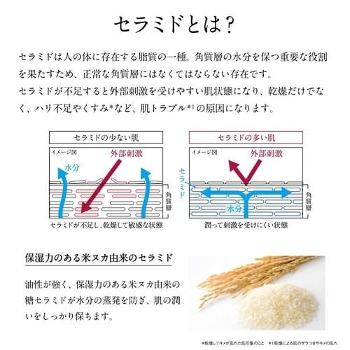 Minh hoạ công dụng của ceramide đối với da phụ nữ. Làn da đủ ceramide sẽ vừa tự bảo vệ tốt trước tác hại từ môi trường, vì chống lại sự mất độ ẩm da từ bên trong
