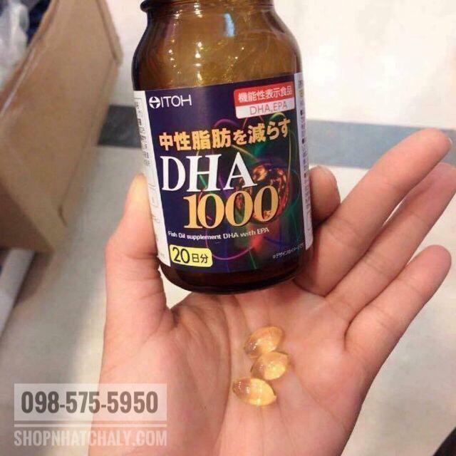 Một lọ DHA 1000mg & EPA 14mg itoh 120 viên mình uống được trong 4 tháng lận do mình giảm liều. Thấy rất hiệu quả
