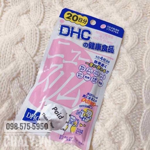 Viên giảm cân DHC new slim màu hồng là sản phẩm thuốc giảm cân bán chạy top đầu của DHC Japan