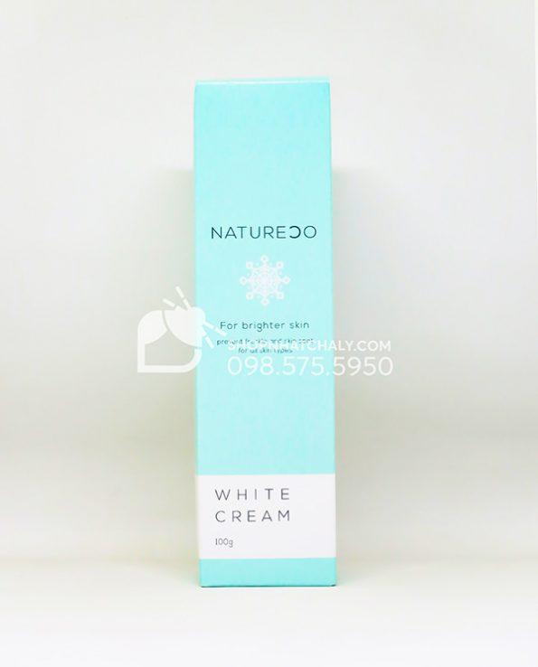 Kem tri tham lam hong nhu hoa Natureco White Cream Nhat mau moi 2021