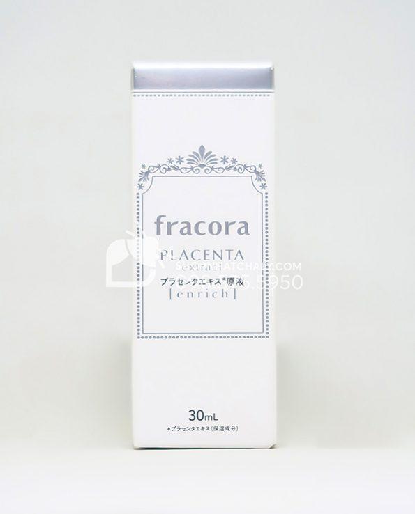 Serum nhau thai Fracora White Placenta Extract Enrich Nhat mau moi 2021