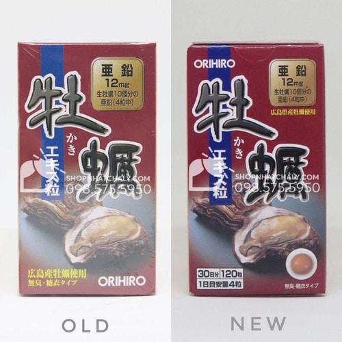 Viên tinh chất hàu Orihiro của Nhật mẫu mới