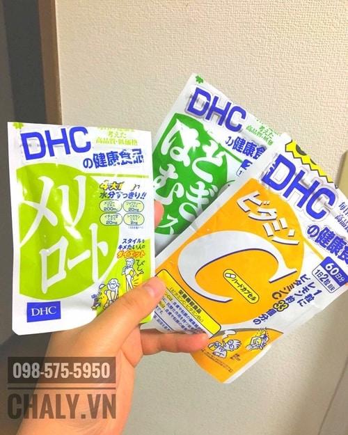 Mình khá ưng viên uống DHC, hiện ngoài viên giảm béo đùi còn uống cả viên trắng da và viên vitamin C nữa