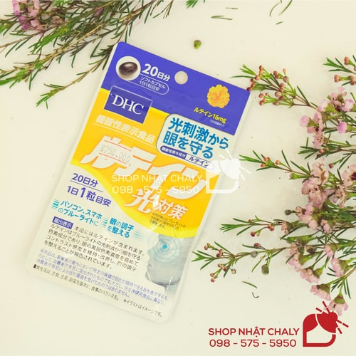 Lưu ý viên DHC lutein của Nhật có tác dụng chống nắng, chống tia UV, ánh sáng xanh tác động tới mắt, không chống nắng cho da