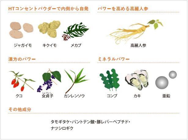 14 thành phần thảo dược thiên nhiên làm đen tóc bạc, kích thích mọc tóc trong viên uống DHC volume top