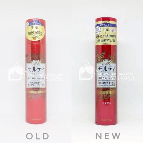 Mẫu mới nhất 2020 của lotion trị rụng tóc kích mọc tóc Molty Nhật màu đỏ