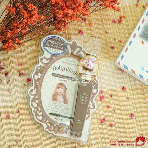 Mascara Dolly Wink brown là dòng chuốt mi hot nhất của thương hiệu Dolly Wink, vừa làm dày mi vừa tăng độ dài cho mắt sâu hút quyến rũ