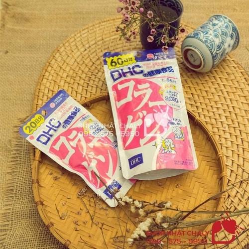 Viên uống bổ sung collagen Nhật DHC giá bình dân, hàm lượng collagen vừa phải phù hợp với chị em từ 20-30 tuổi