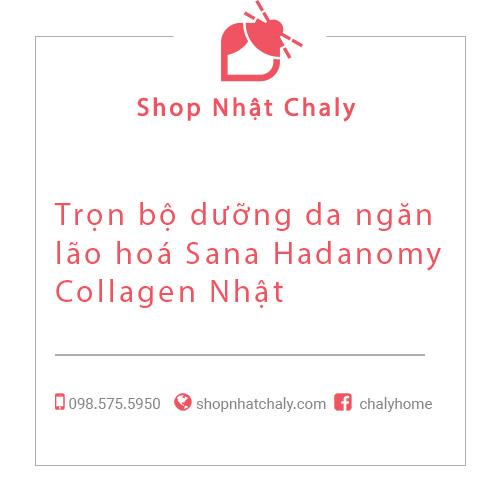 Trọn bộ dưỡng da ngăn lão hoá Sana Hadanomy Collagen Nhật