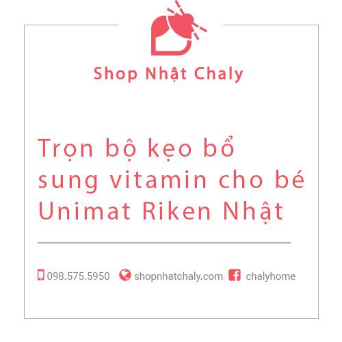 Trọn bộ kẹo bổ sung vitamin cho bé Unimat Riken Nhật