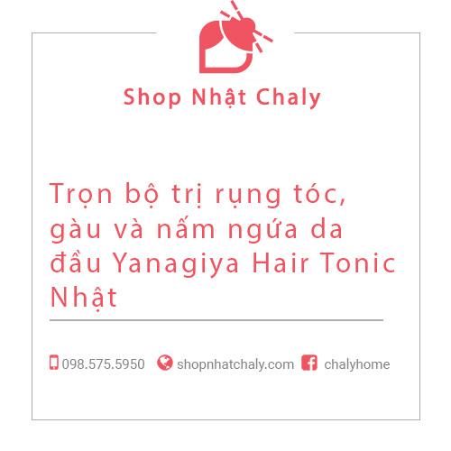 Trọn bộ trị rụng tóc, gàu và nấm ngứa da đầu Yanagiya Hair Tonic Nhật