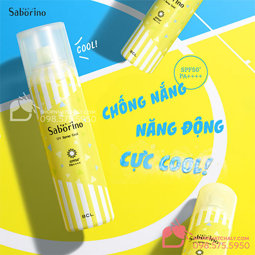xit chong nang Saborino Morning UV Spray Cool nhat 09