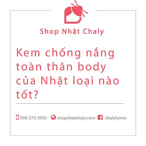 kem chong nang toan than body cua nhat